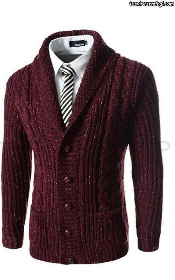 لباس دستباف مردانه زرشکی