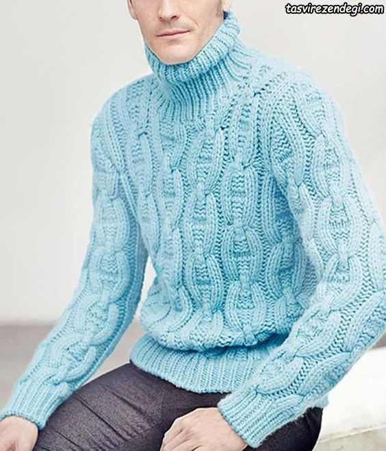 لباس دستباف مردانه آبی