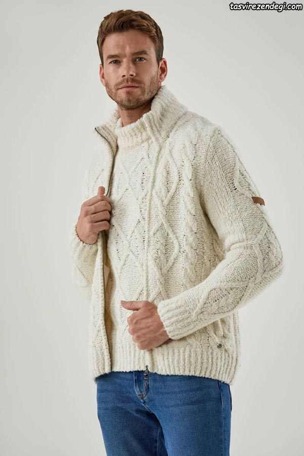 لباس دستباف مردانه پلیور جلوباز