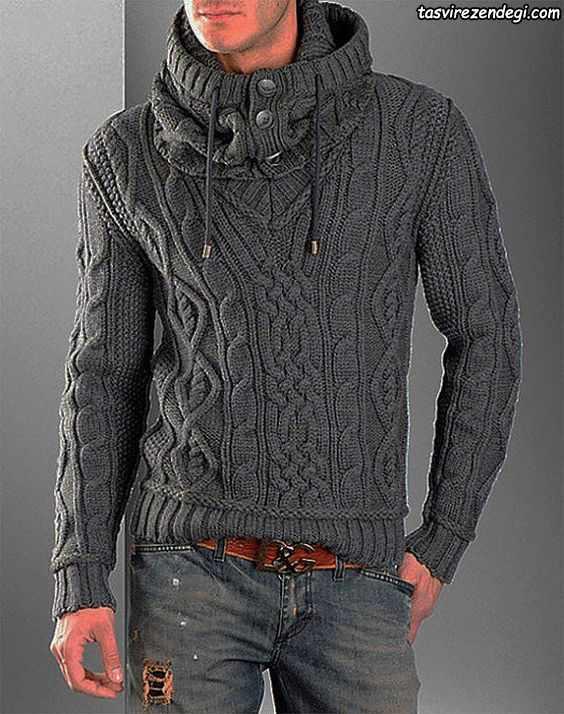 لباس دستباف مردانه خاکستری