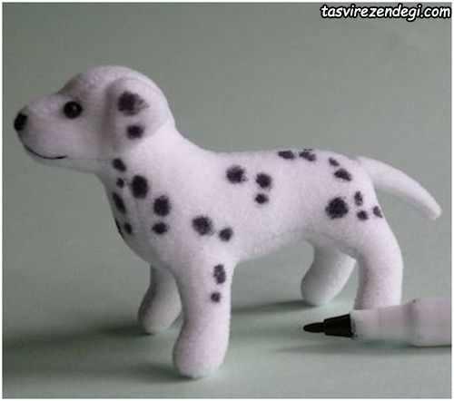 آموزش دوخت عروسک سگ خالدار