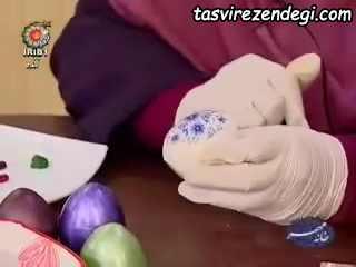 روش تزیین تخم مرغ هفت سین