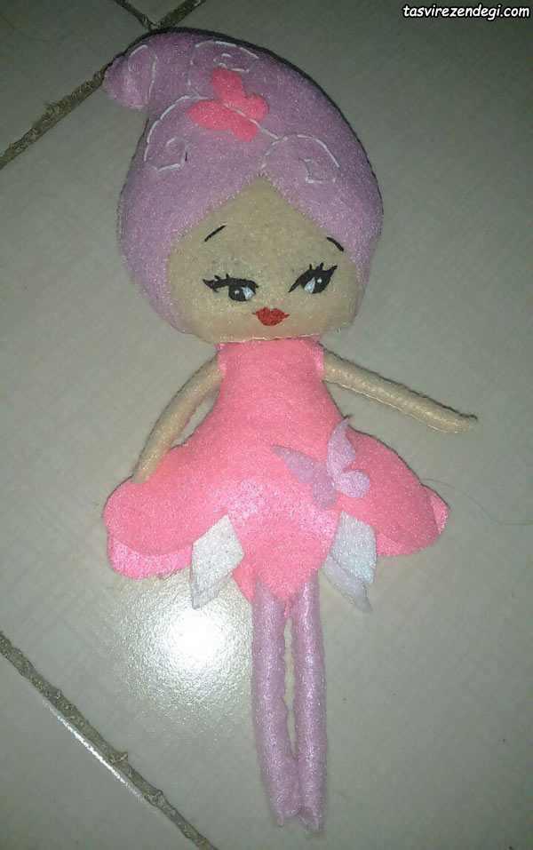 آموزش دوخت عروسک فرشته نمدی