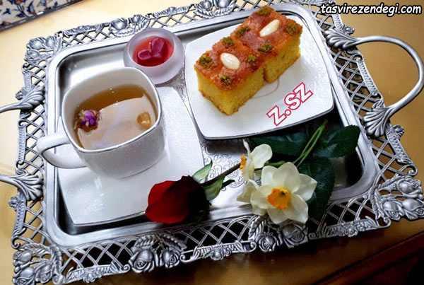 کیک بسبوسه عربی , کیک با آرد سمولینا