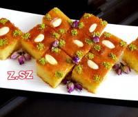 کیک بسبوسه عربی با آرد سمولینا