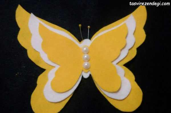 ساخت میز گرد برای هفت سین آموزش ساخت استیکر پروانه نمدی • مجله تصویر زندگی