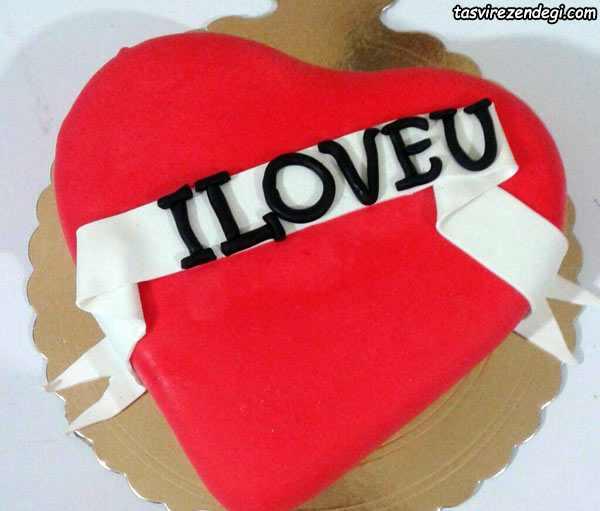 تزیین کیک قلبی , کیک ولنتاین روز عشق