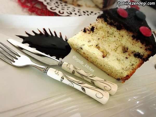 کیک گردو و کشمش