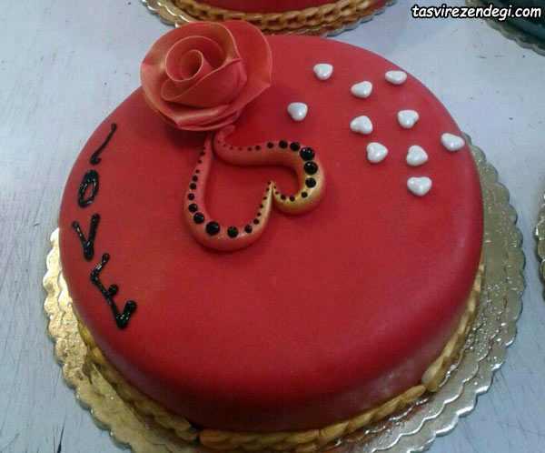 تزیین کیک ولنتاین , تزیین کیک روز عشق