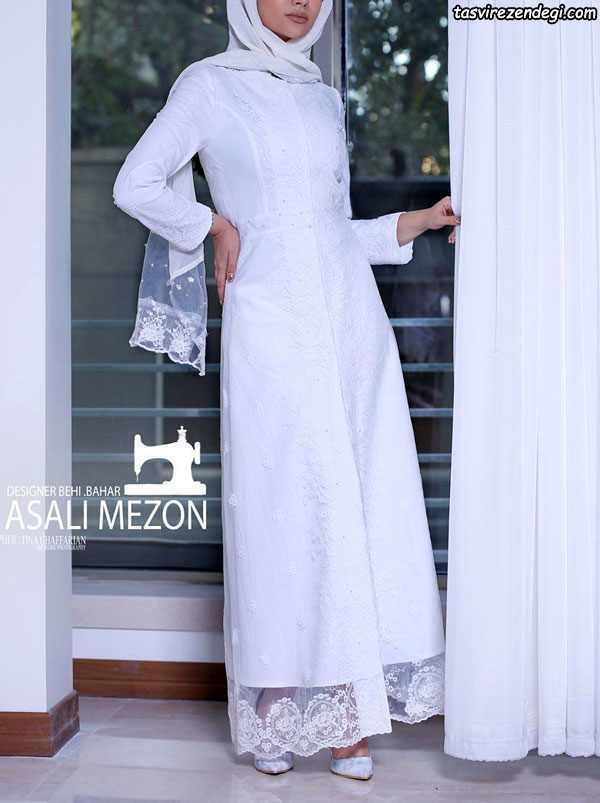 مانتو سفید , مانتو گیپور , مانتو عروس