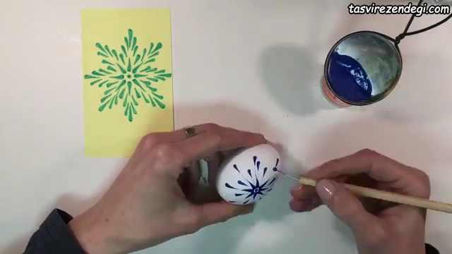 تزیین تخم مرغ با مداد شمعی
