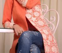 مدل مانتو عید رنگ شاد , مانتو مجلسی نارنجی