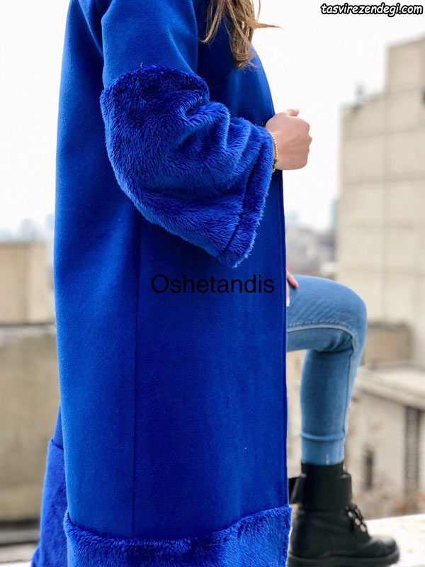 مدل مانتو خزدار زمستانی شیک و مجلسی مزون OsheTandis