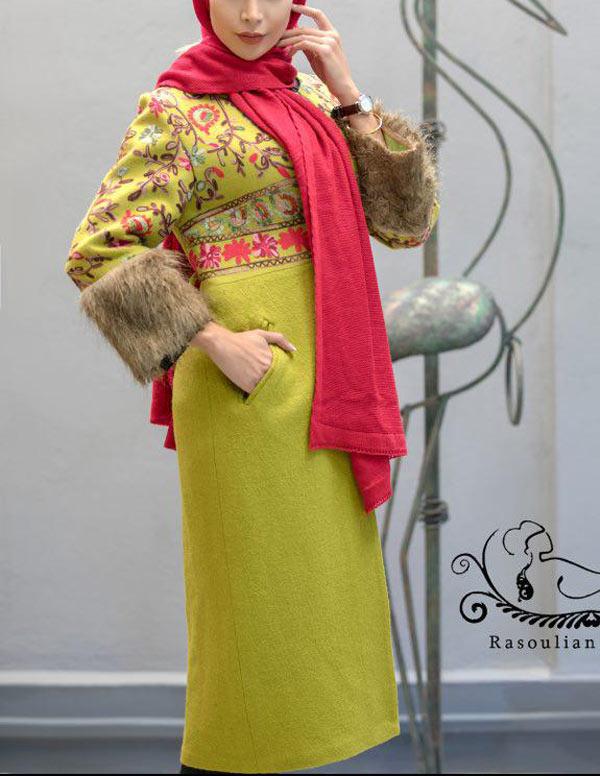 مدل مانتو زمستانی مجلسی شیک
