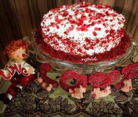 کیک قرمز مخملی ولنتاین , کیک red-velvet