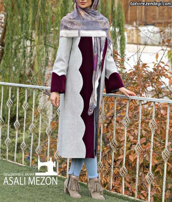 مدل مانتو زمستانی شیک بلند