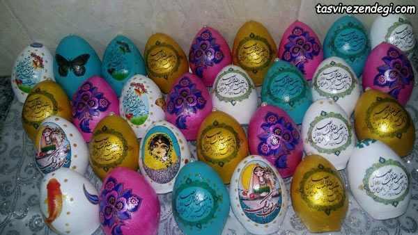 دکوپاژ تخم مرغ هفت سین