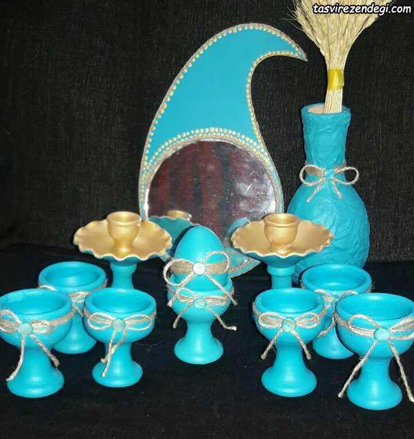 رنگ آمیزی ظروف هفت سین سفالی