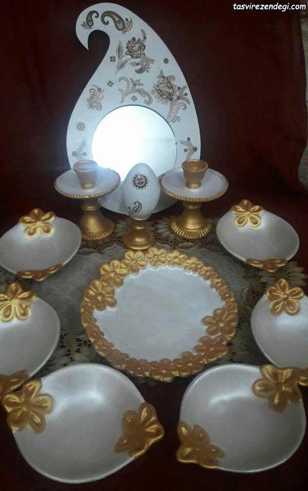 رنگ آمیزی ظروف سفالی هفت سین