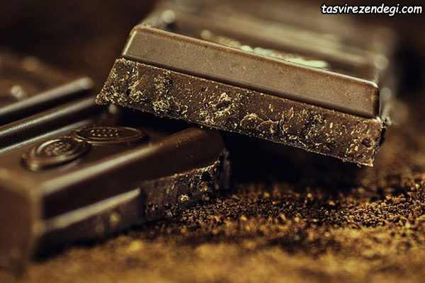 کاهش چین و چروک صورت , شکلات تلخ