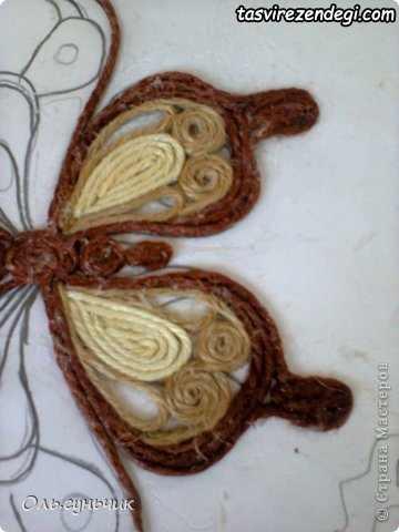 آموزش ساخت پروانه کنفی با نخ