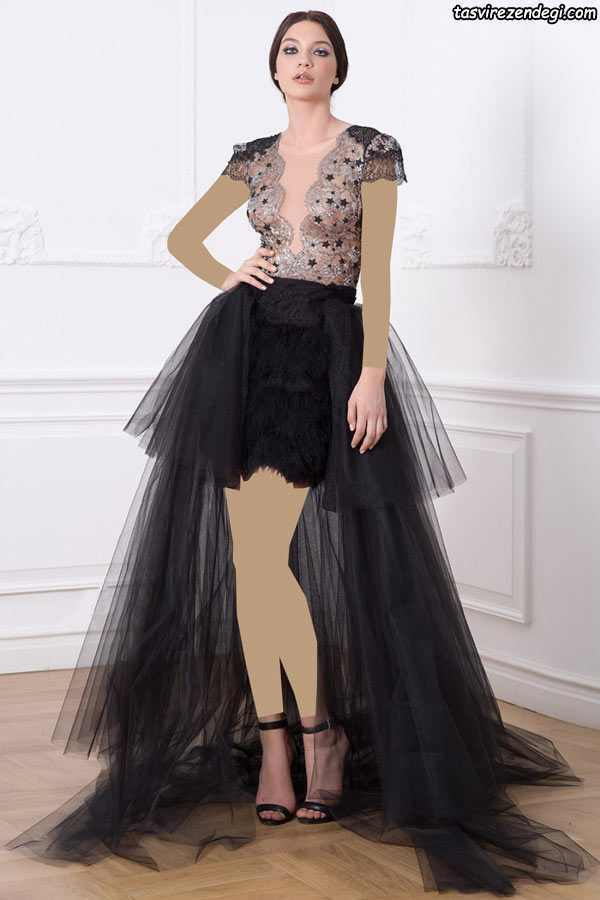 لباس مجلسی حریر مشکی