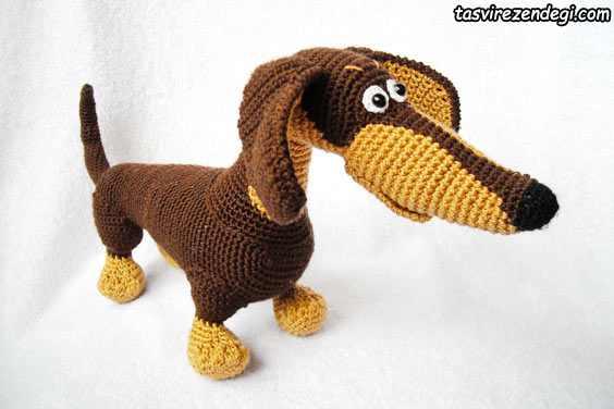 ایده عروسک سگ بافتنی