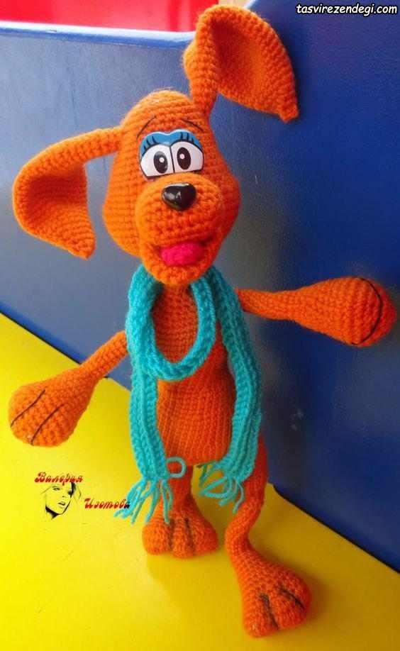 بافت عروسک سگ با قلاب