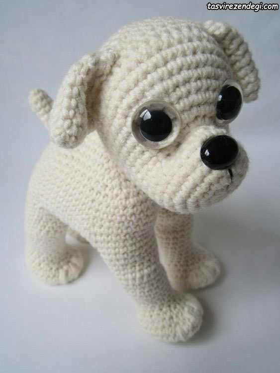 بافت عروسک سگ قلاب بافی
