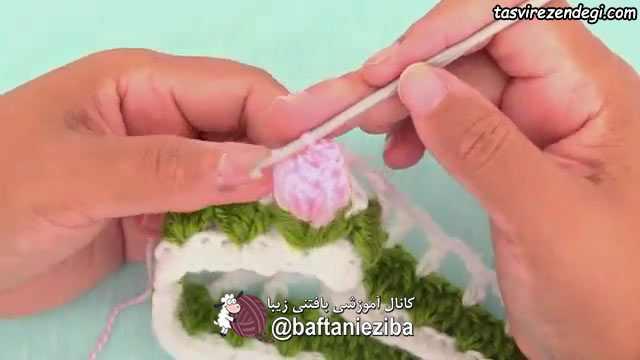 آموزش بافت هدبند گل رز