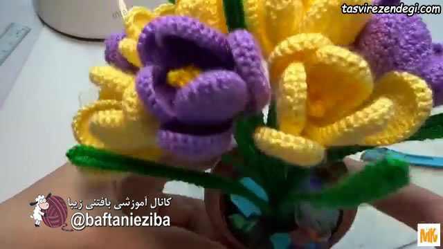 آموزش قلاب بافی , بافت گل بهاری