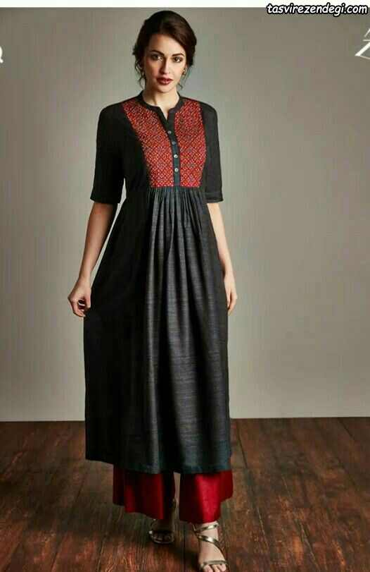 مدل لباس نخی هندی ، مدل مانتو نخی تابستانه