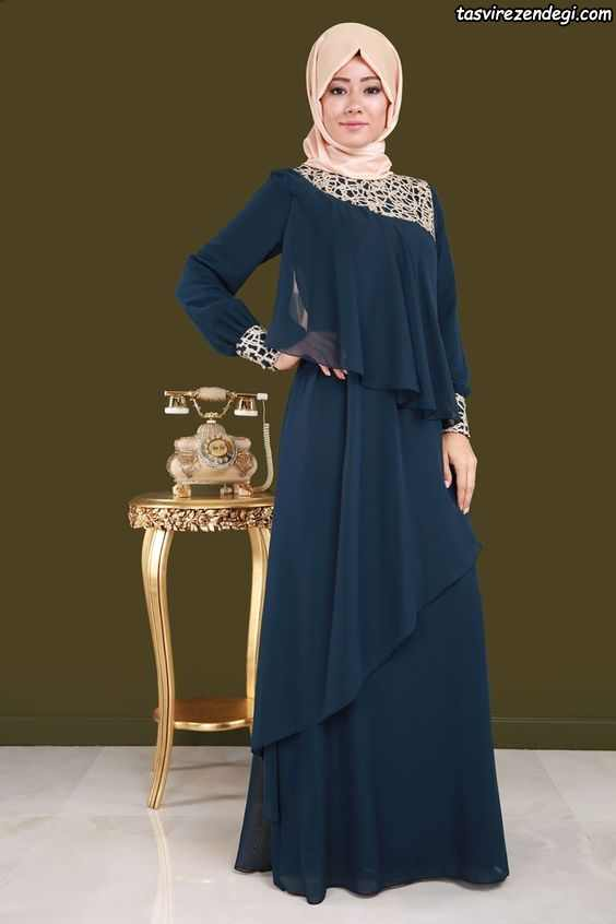 لباس مجلسی اسلامی حریر