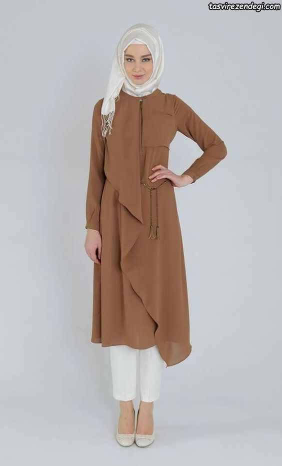 مدل مانتو حریر اسلامی پوشیده