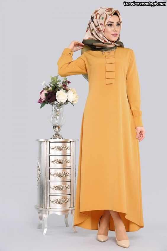مانتو مجلسی اسلامی بلند پوشیده