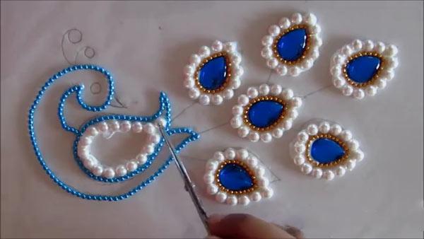 آموزش ساخت قاب طاووس , Rangoli هندی