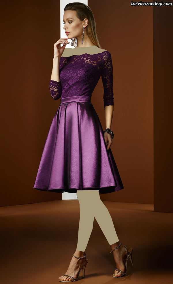 مدل لباس مجلسی دخترانه 2018 رنگ سال
