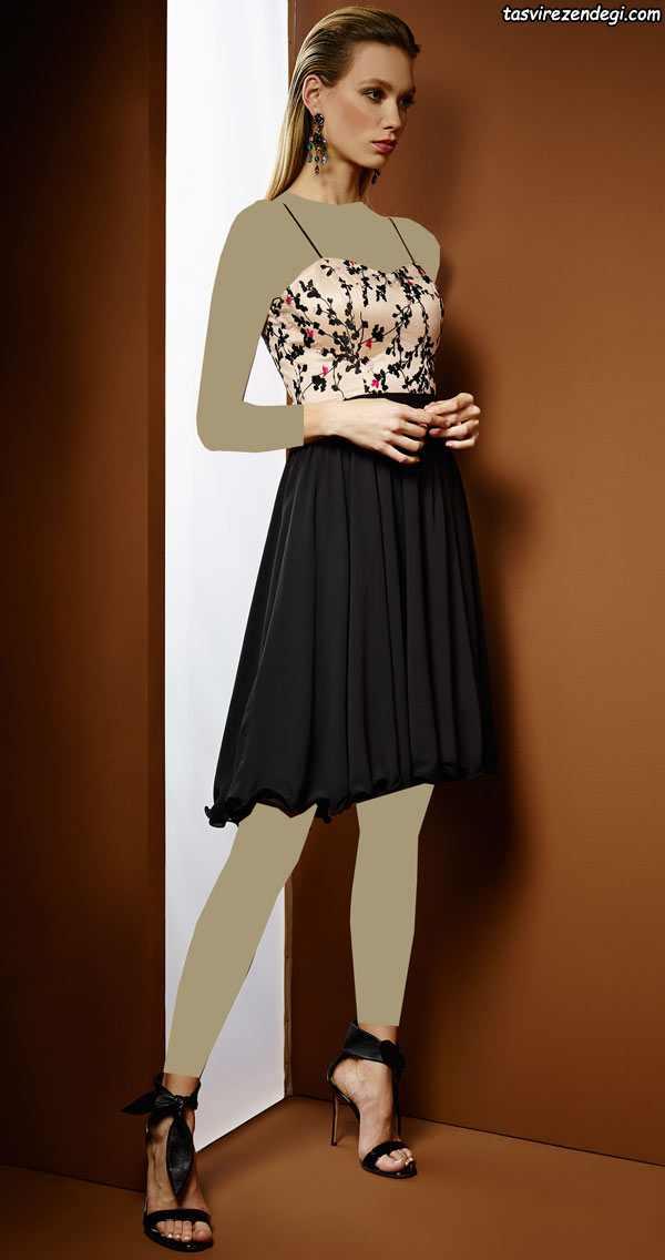 مدل لباس مجلسی دخترانه 2018 دوبندی