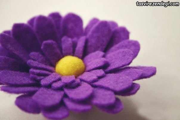ساخت گل بابونه نمدی