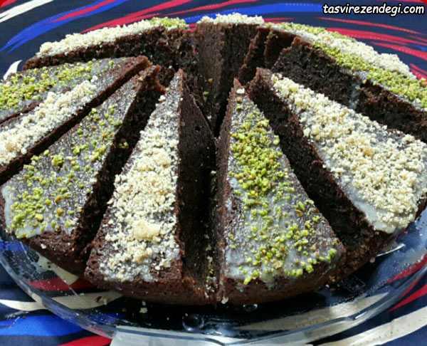 کیک اسپرسو شکلاتی