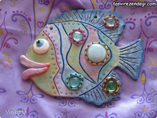 آموزش ساخت آویز ماهی سرامیکی