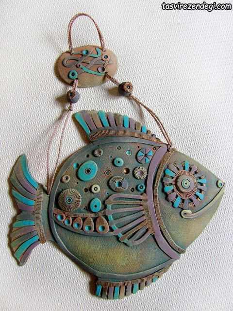 ساختت آویز ماهی با خمیر سرامیکی