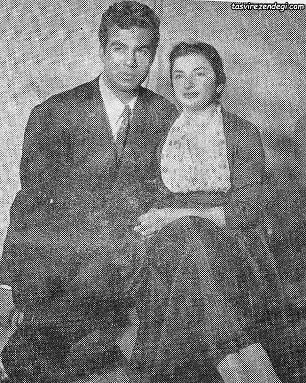 ناصر ملک مطیعی و همسرش مهین