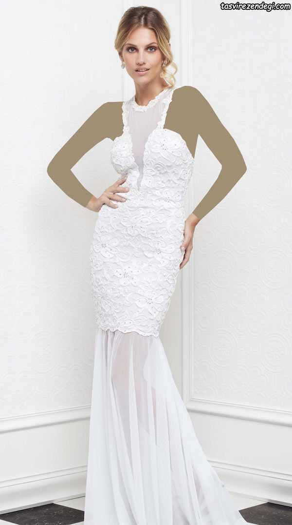 مدل لباس مجلسی سفید , لباس نامزدی
