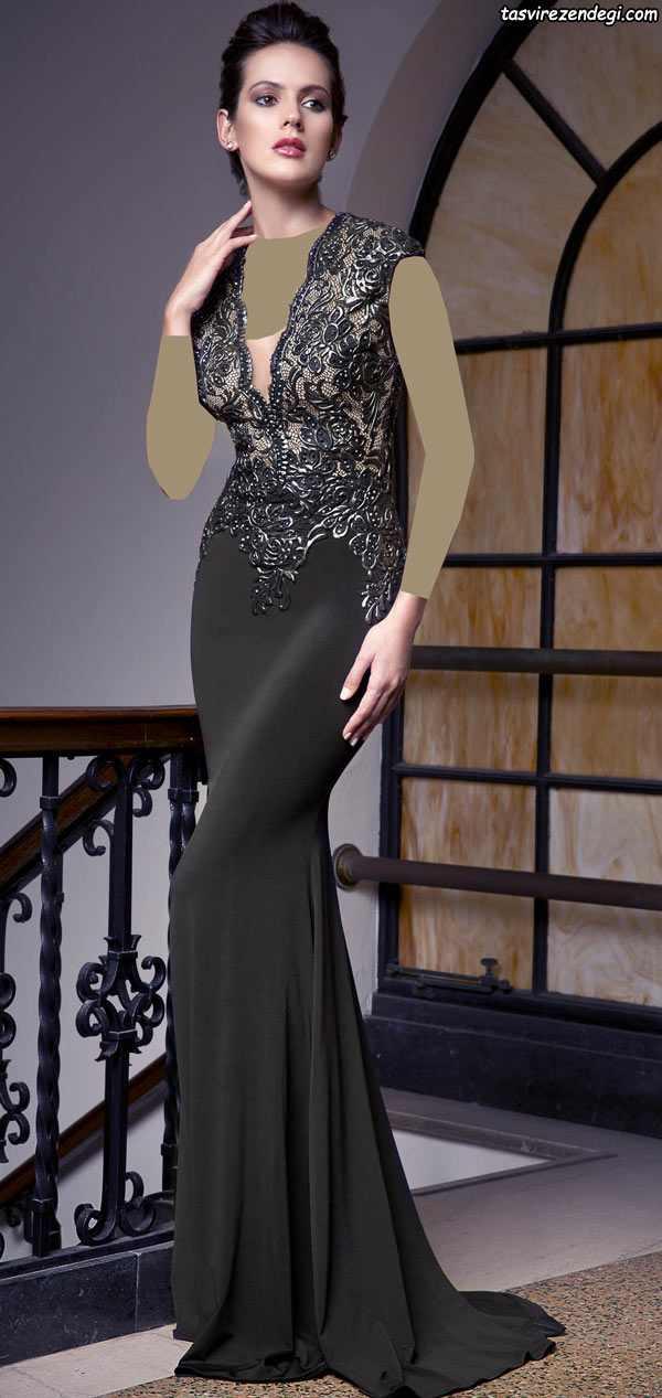 مدل لباس مجلسی مشکی , لباس شب