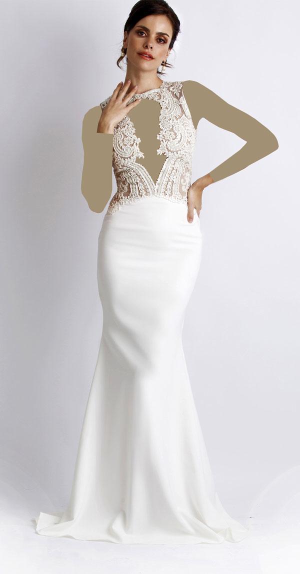 لباس مجلسی سفید مناسب مراسم نامزدی , لباس عروس