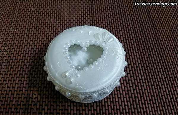 آموزش ساخت جاحلقه ای عروس و داماد