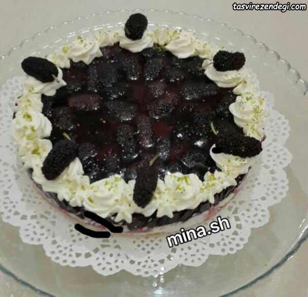 چیز کیک توت سیاه