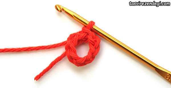 آموزش قلاب بافی , بافت دستبند شبدر