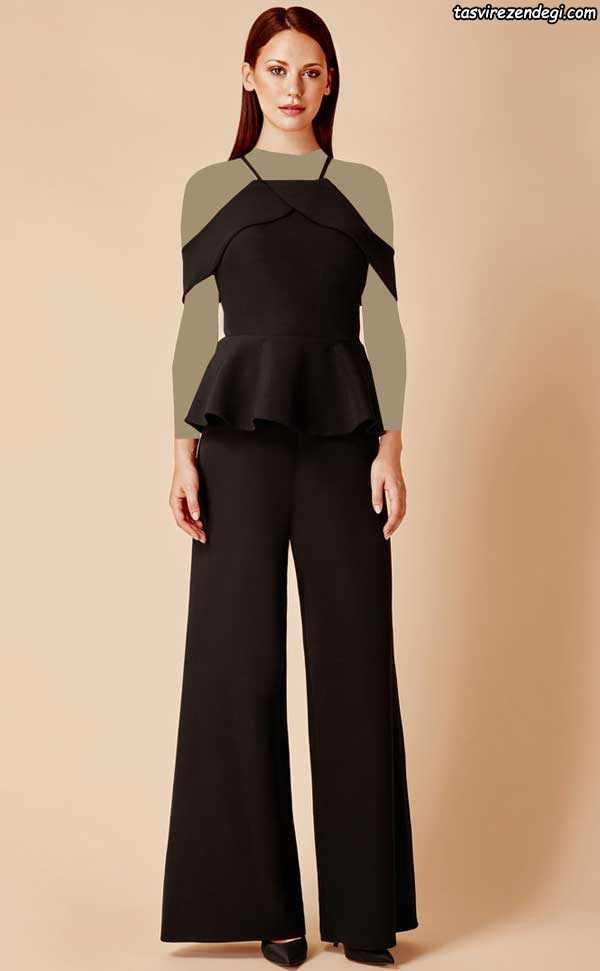 مدل لباس مجلسی مشکی با شلوار